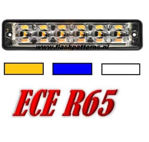 SSL-led flitser-6x3-Watt-leds-r65-A-B-W