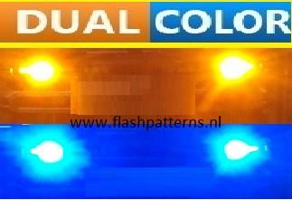 LED Dual Color / Dubbel Kleur LED flitsers