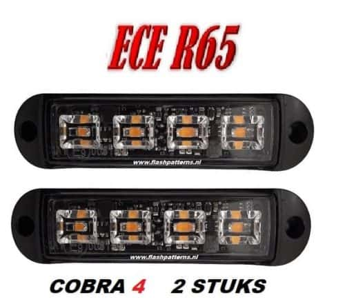 C4 COBRA  LED GRILL LIGHT ECER65 led flitser 2st