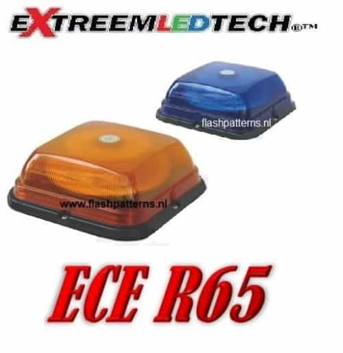 SQ 64 Led Beacon ECER65 bolt mount B-A flashpatterns.nl