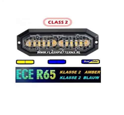 Superbee LED Flitser klasse-2, 12 X 3 Watt Power Leds R65 12 24V , Super Fel !!!