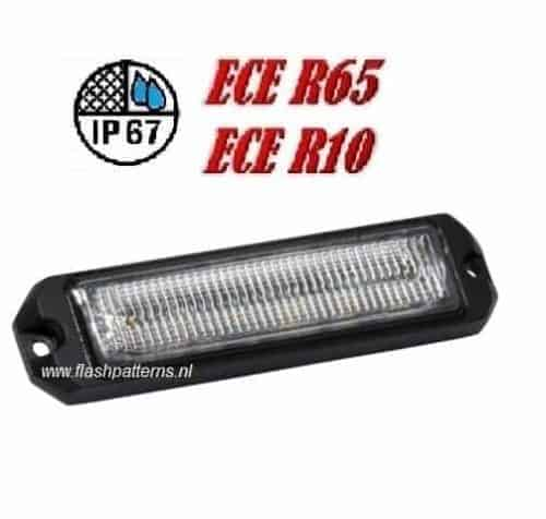 ECO ALERT 6x5w ECER65 R10 HOOG INTENSITEIT LEDS 12-24V