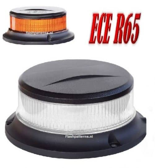ZL5-C 27watt Compact Led Zwaailamp amber led blank lens bout montage ECER10 ECER65 flashpatterns.nl new