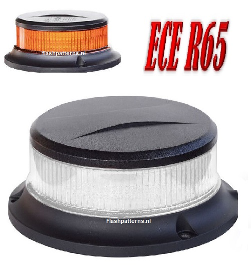 ZL5-C 27watt Compact Led Zwaailamp amber led blank lens bout montage ECER10 ECER65 flashpatterns.nl new