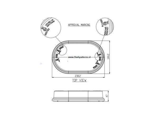 extreem mini lightbar R65 flashpatterns NL-afm