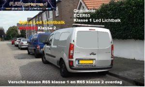 verschil tussen klasse 1 en klasse 2 led lichtbalk ECER65 foto flashpatterns Nederland