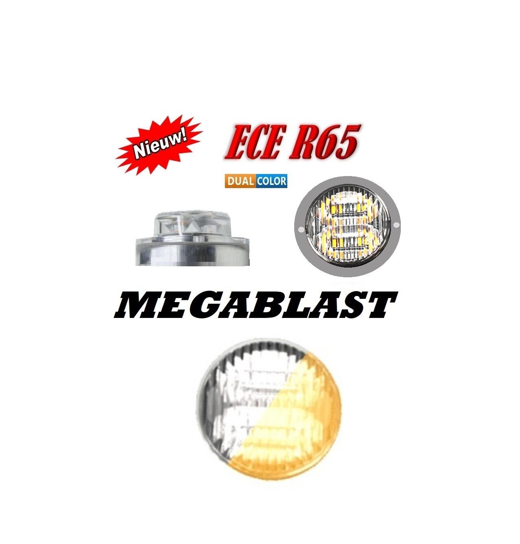 MEGABLAST LED FLITSER R65 AMBER WHITE