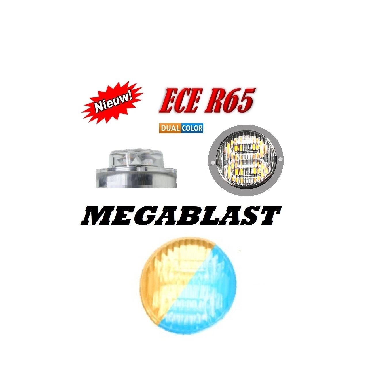 MEGABLAST LED FLITSER R65 BLUE AMBER