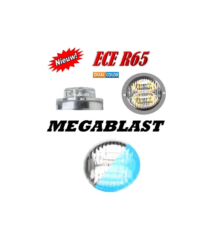 MEGABLAST LED FLITSER R65 BLUE WHITE