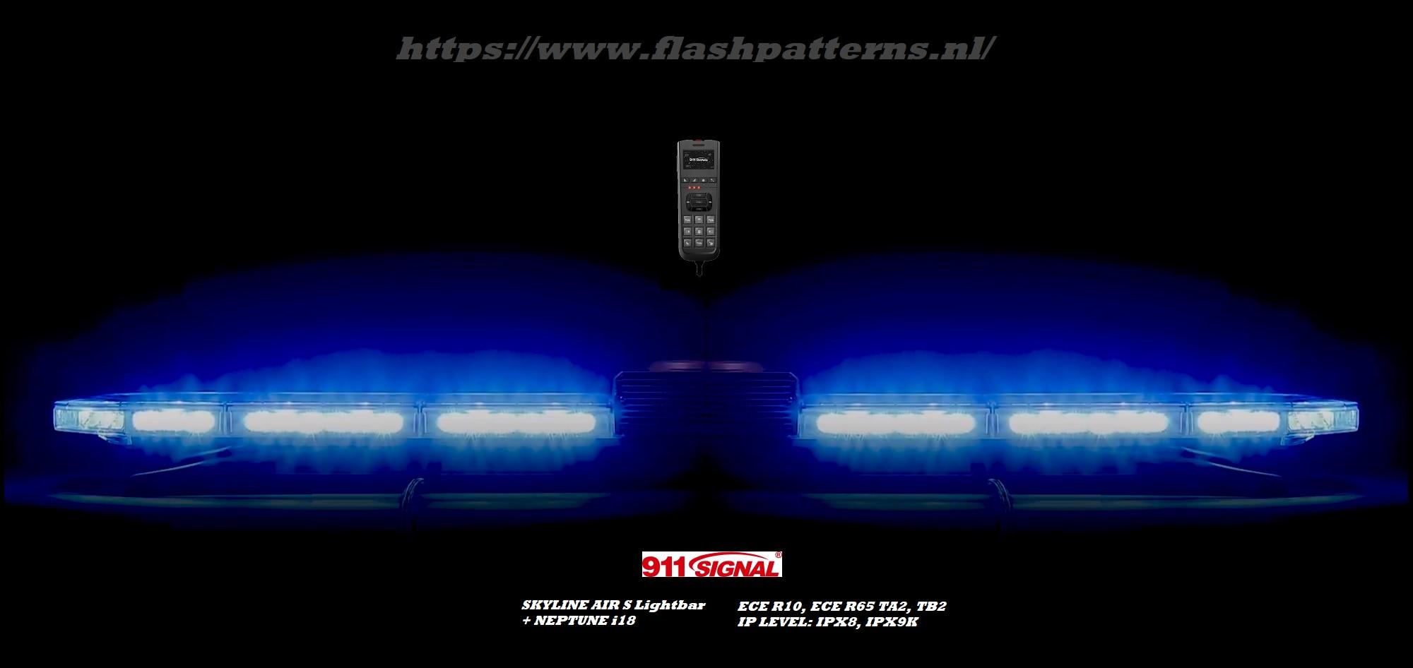 Skyline-S-met-ingebouwd-handheld-sirene-met-blue-tooth-app-en-dual colour traffic-advisor